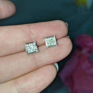 LARGE 1/2 Carat Genuine Diamond Earrings 🌸